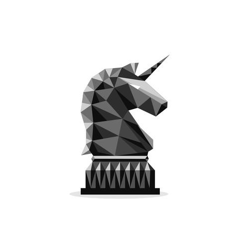 Create an unique Unicorn mascot.
