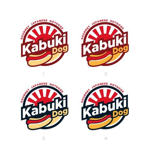 Kabuki Dog Logo Design