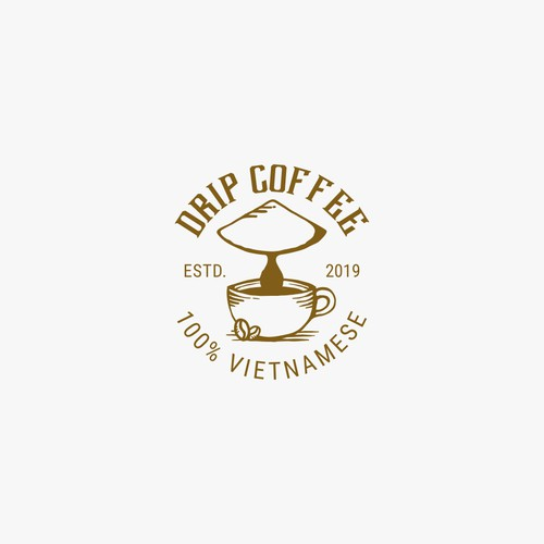 "vintage logo for ""DRIP COFFEE"""