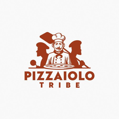 Pizzaiolo Tribe logo design