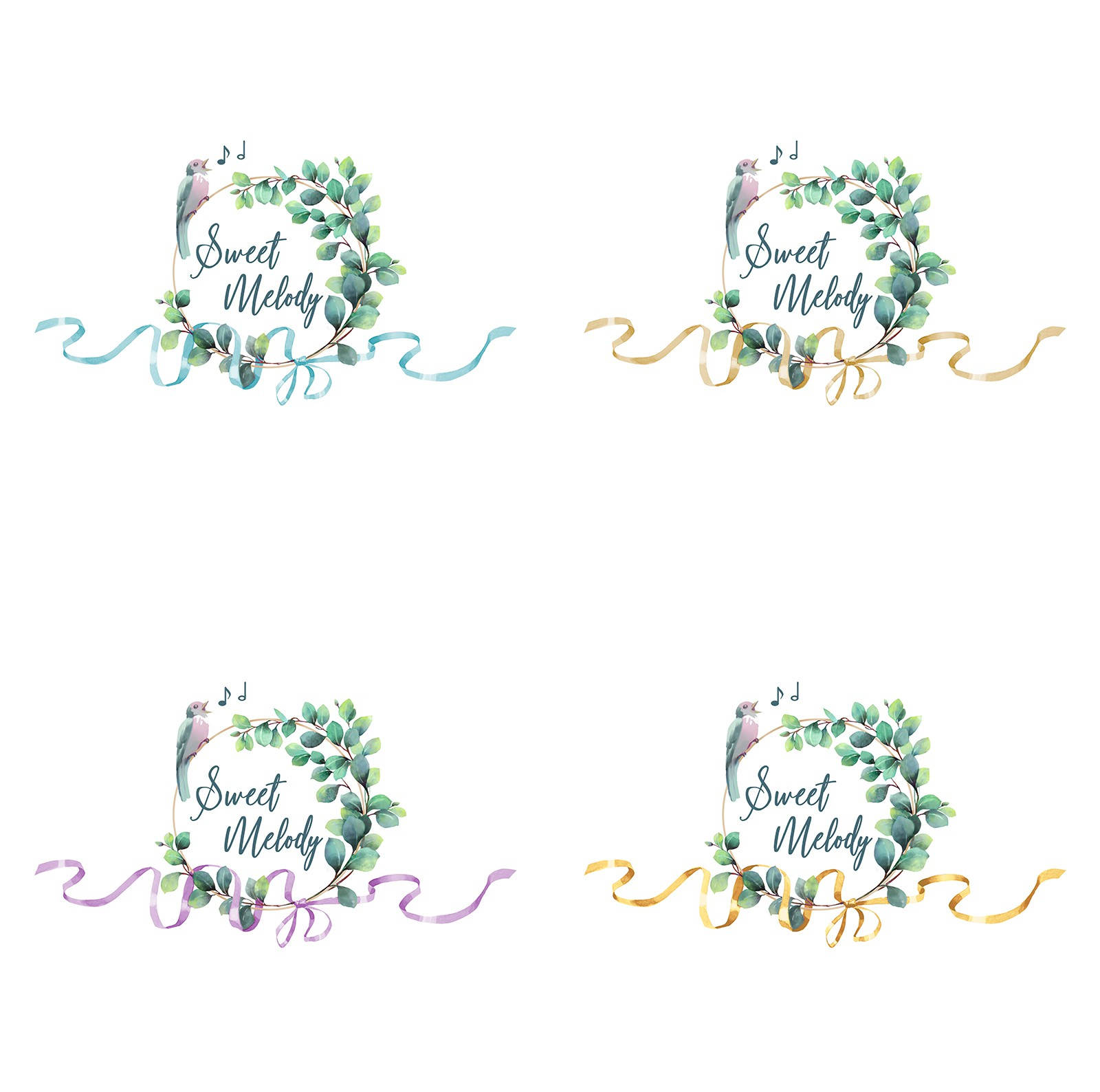 Modern logo for a singer (weddings and baptisms)