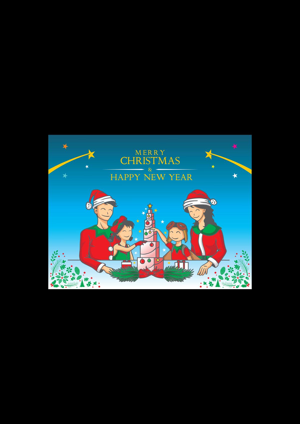 Montessori Star Christmas Postcard