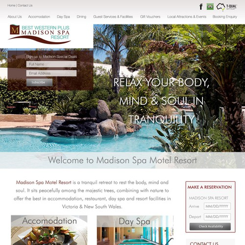 Spa Resort Website Design