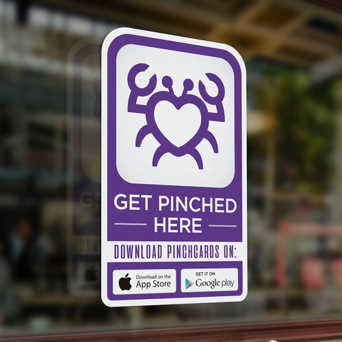 PinchCard App sticker for business.