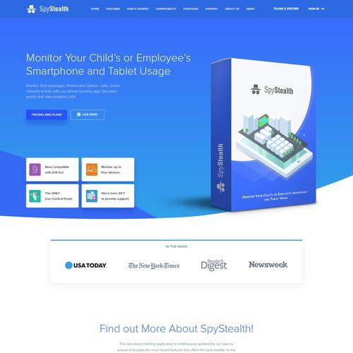Sleek, modern , website design for Software company