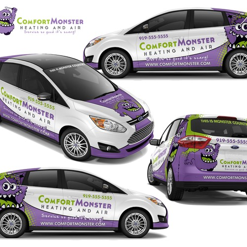 Comfort Monster Vehicle Wrap