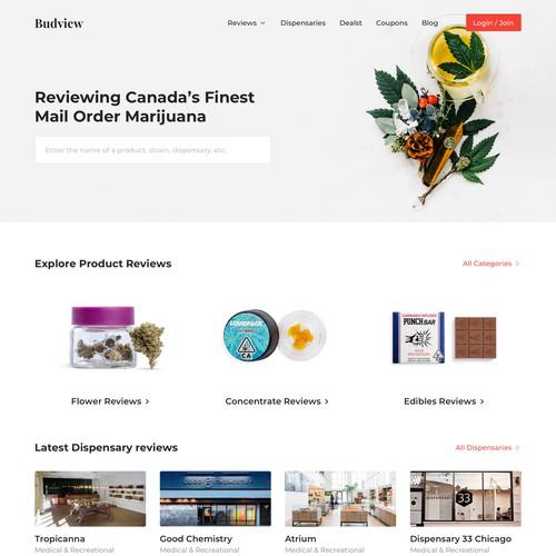 Marijuana & Dispensary Review Website