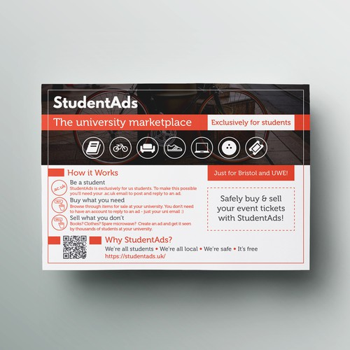 Simple flyer to attract students to website
