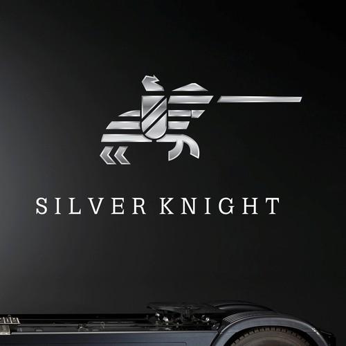bold minimal knight logo