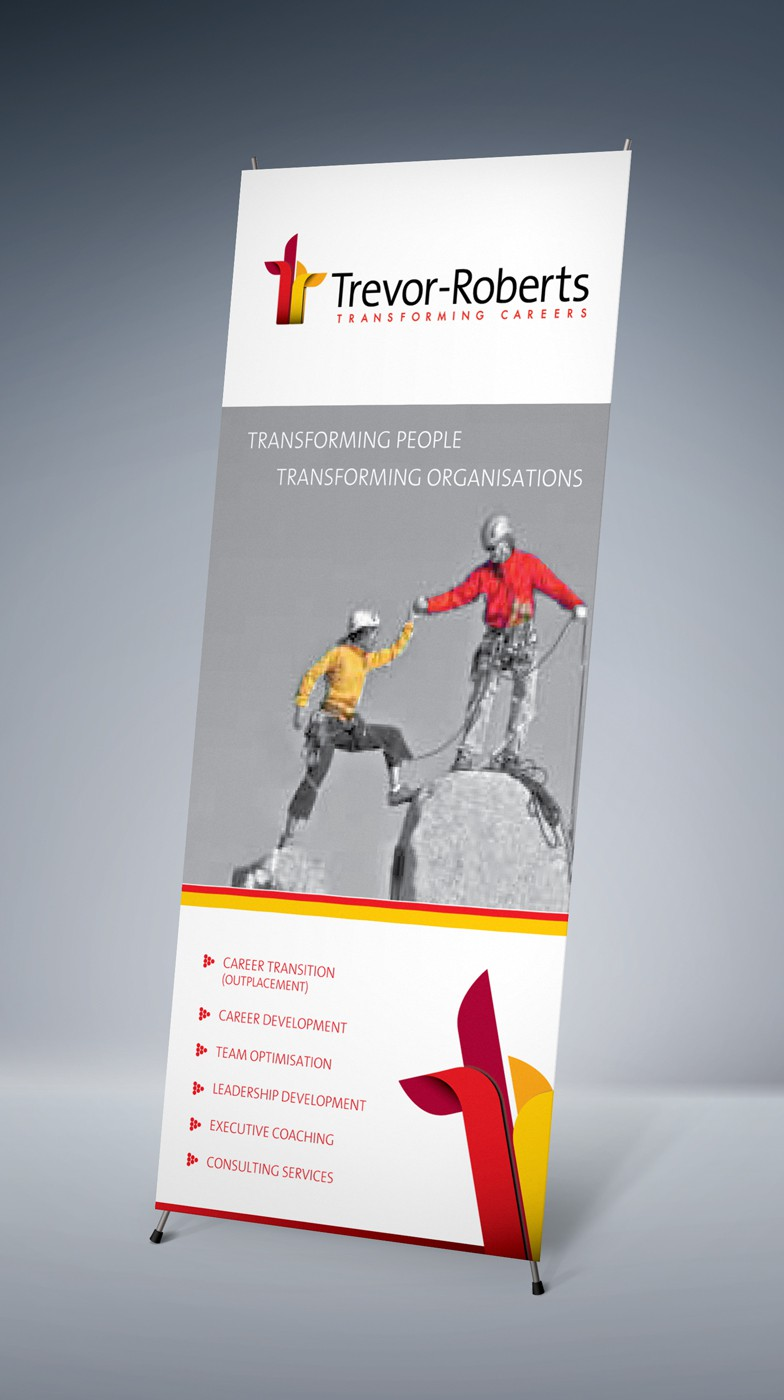 Pull up banner design to communicate new brand