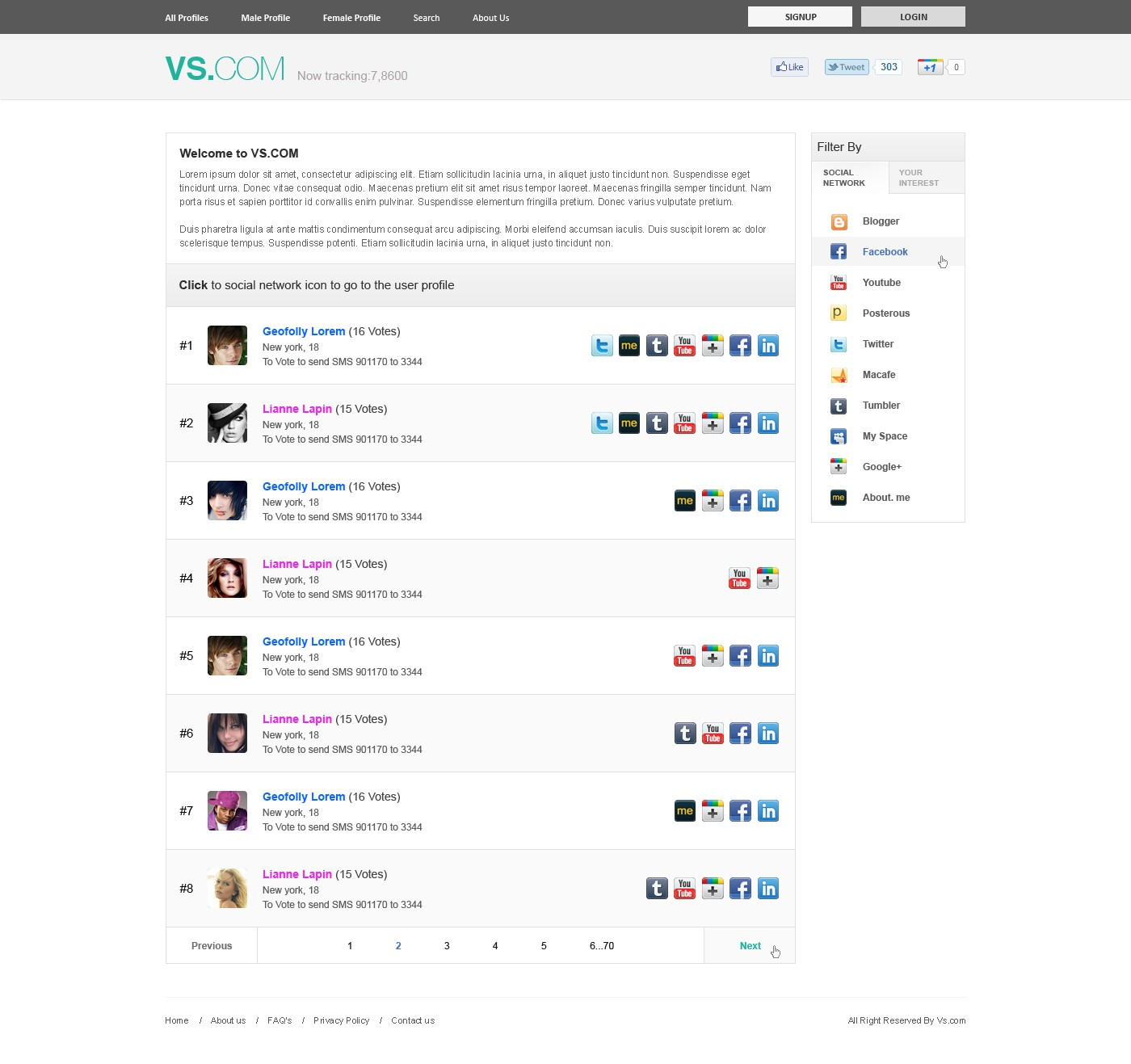website design for Top ranking profiles