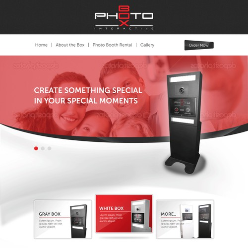Photobox Web Design