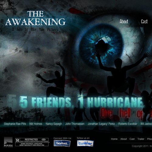 Create the next website for supernatural feature film, 'THE AWAKENING'!