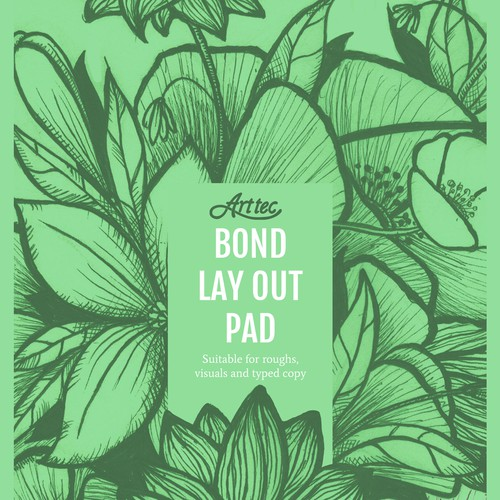 Cover for fine arts pad