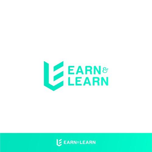 Negative Space Logo for Earn&Learn
