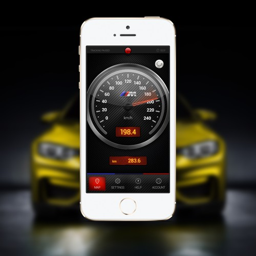 BMW M Power Speedometer APP Design