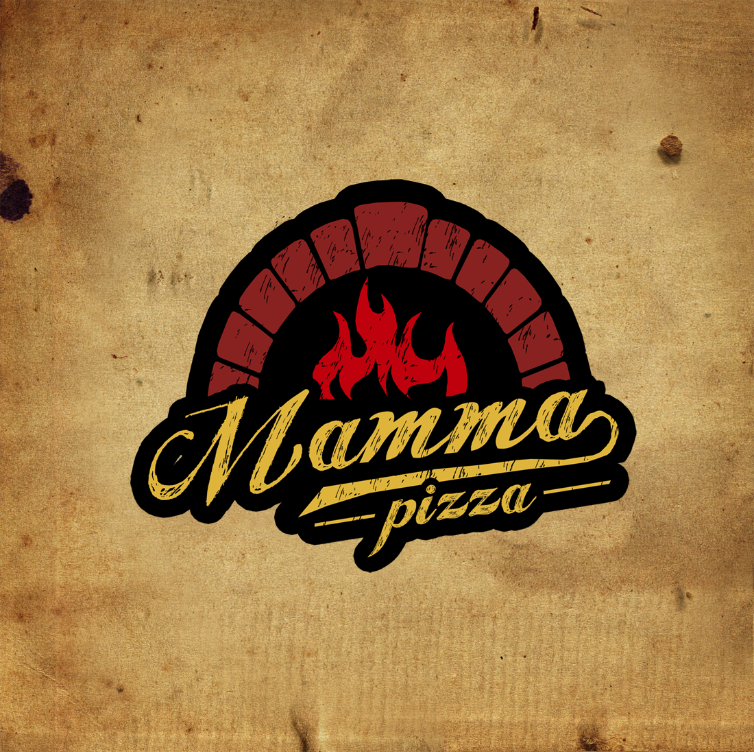 Create a traditional logo for pizzaria