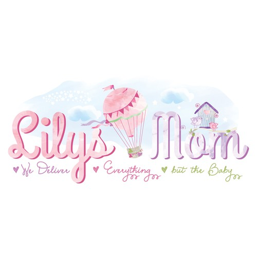 Whimsical design for Baby & Mom Co.