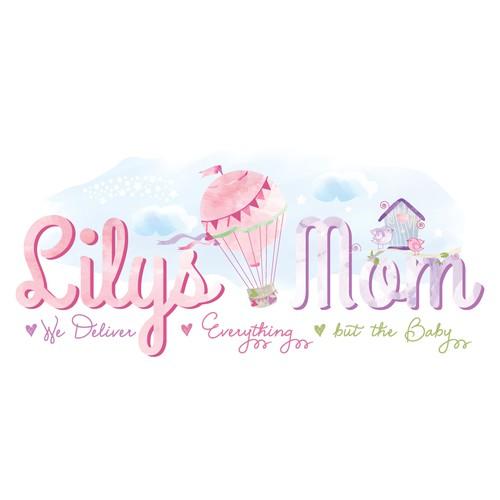 Whimsical design for Baby & Mom Co.