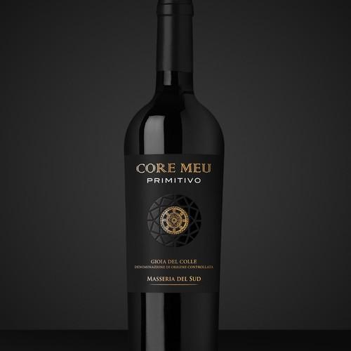 Primitivo Italian Wine Label Design