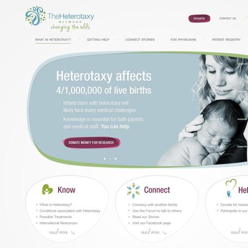 The Heterotaxy Network needs a new website design