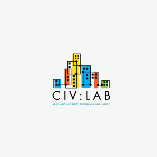 modern flat logo for civ lab