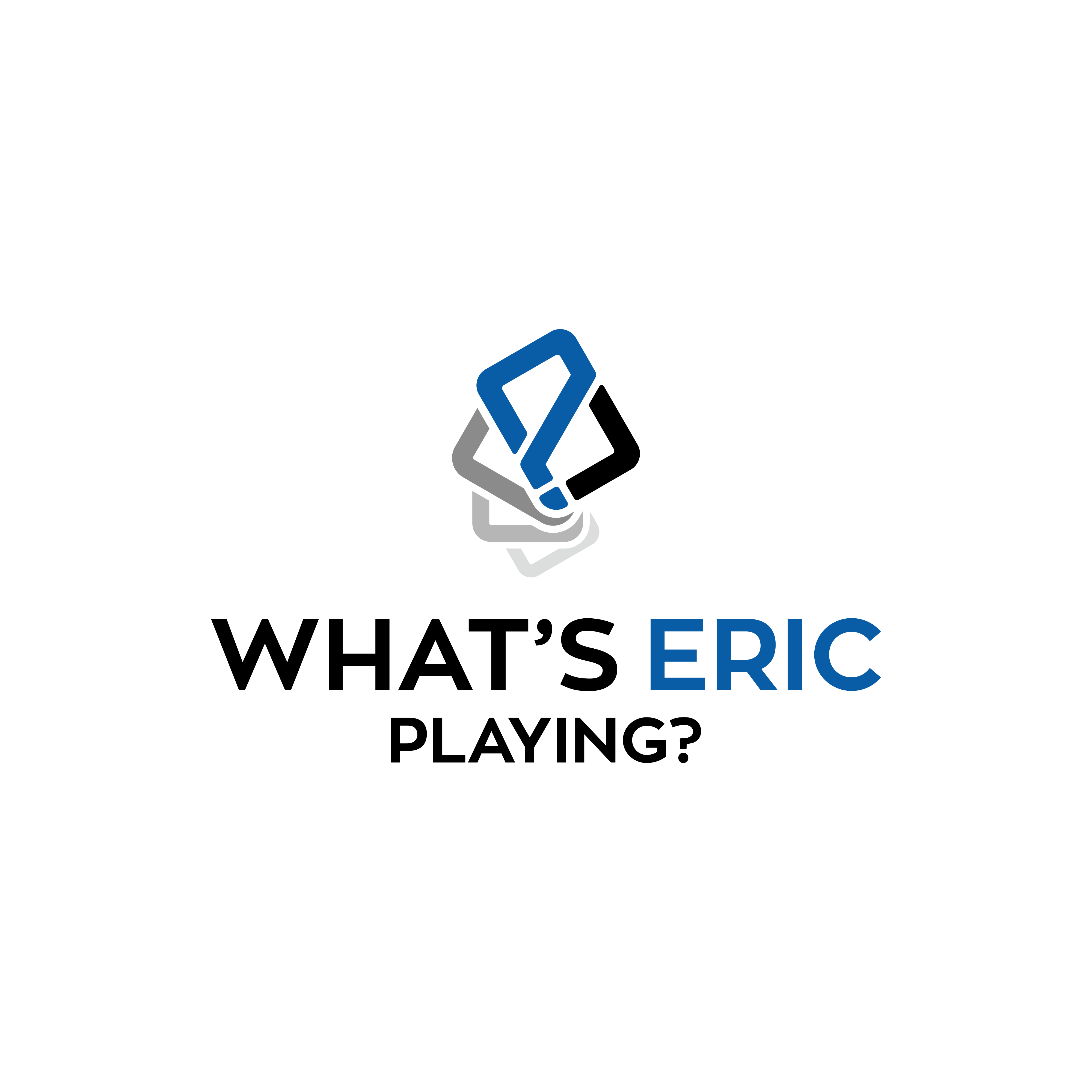 Design a fun logo for What's Eric Playing?
