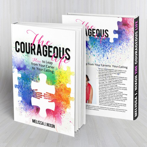"""Book cover """"The courageous life"""" Melissa J.Nixon"""