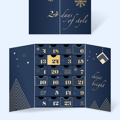 Jewellery advent calendar packaging