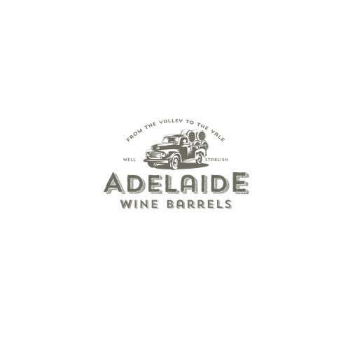 vintage logo concept for wine barrel sales company