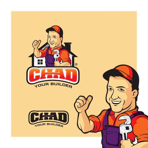 Handyman mascot logo