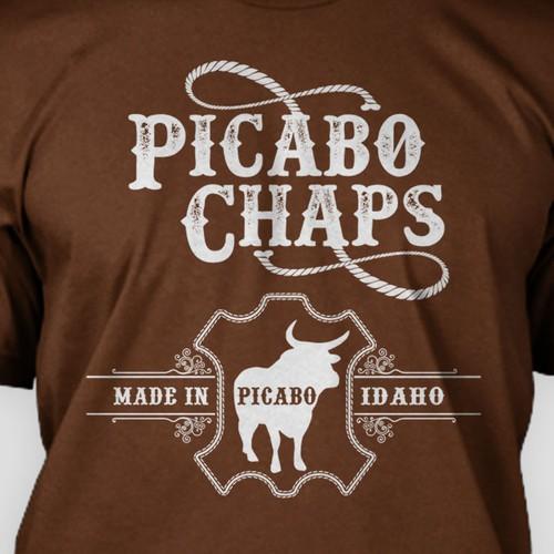 Bold Tshirt design for Pacabo chaps Idaho