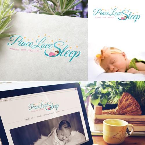 Design a calm and peaceful logo for Peace Love Sleep, Pediatric Sleep Consulting