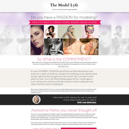 Sales Page for Model Course