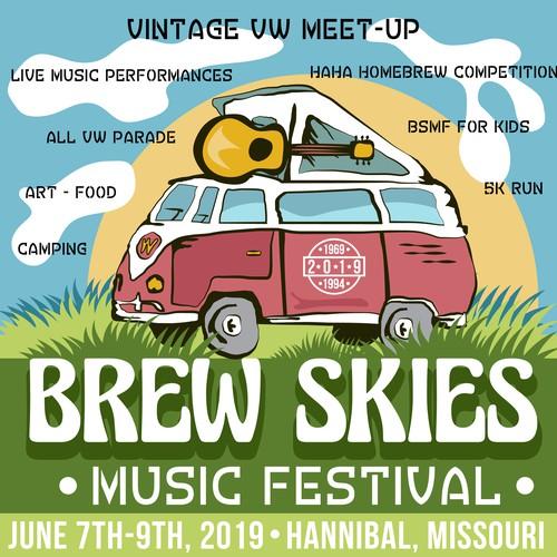 Media kit for Brew Skies music fest