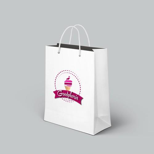 Logo design for frozen healthy delights