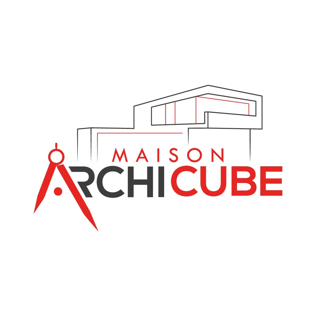 Construction modern house - logo design