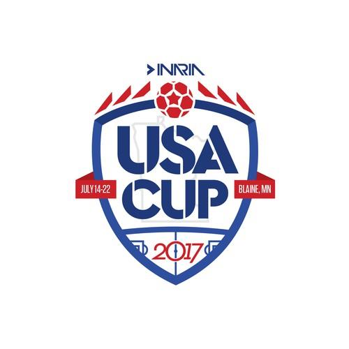 Logo/Emblem for USA CUP, soccer tournament