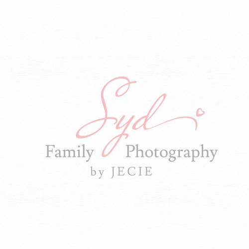Simple and clean logo for Syd Family Photography