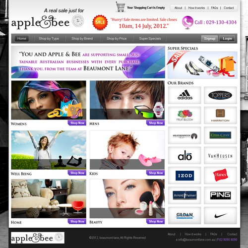 website design for Beaumont Lane