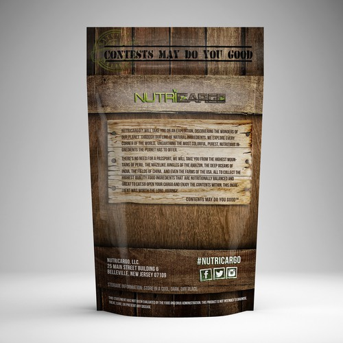 Design Packaging For Natural Ingredients Company