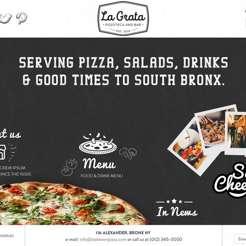 Website design for Pizza Shop