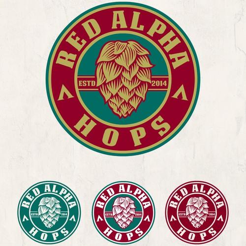Red Alpha hops