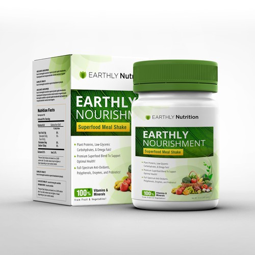 Packaging For Nutritional Health & Fitness Supplement