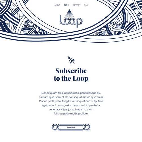 Blog website design for Loop