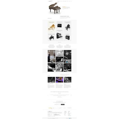 Web design for Euro Pianos Naples