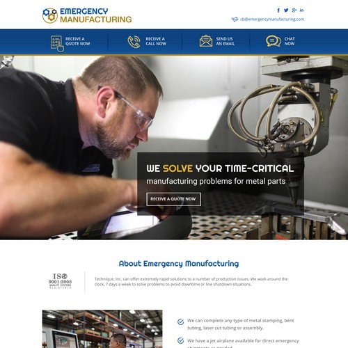 web design for manufacturing company