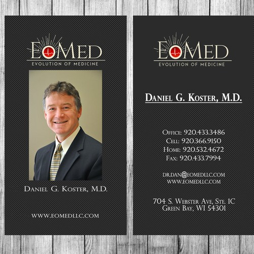 Create cards for a professional, traditional, but innovative concierge medicine practice.
