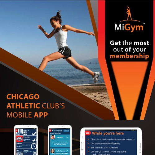 Help Club Members Stay Fit by designing poster / Flyer to get them to download a mobile app