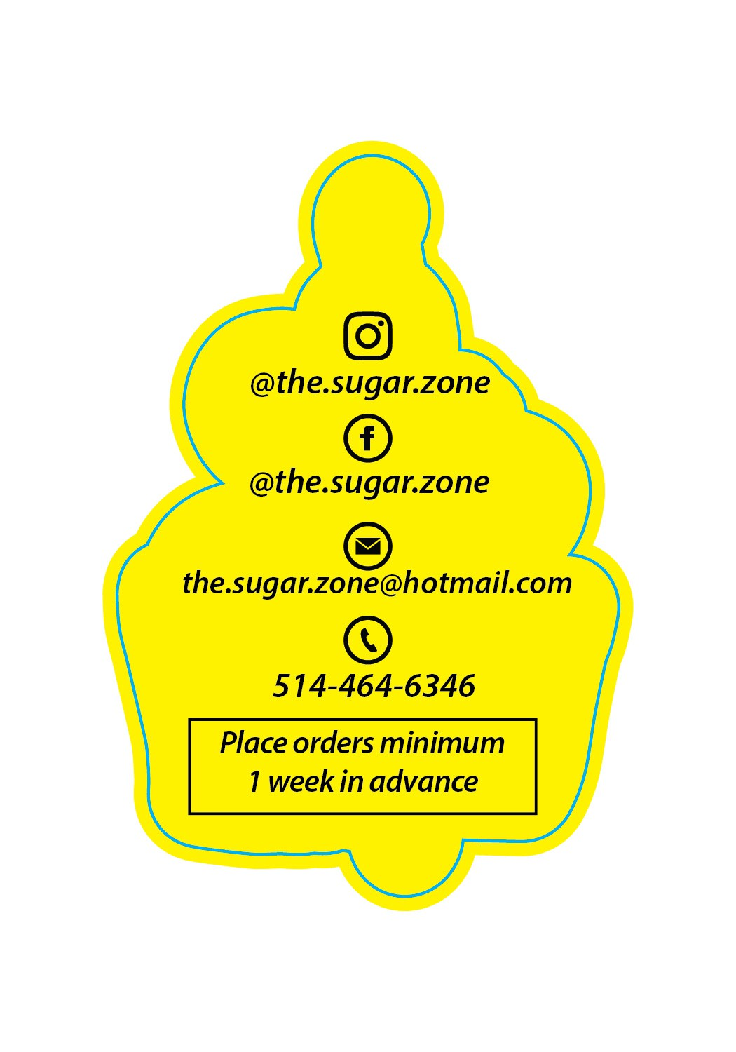 business cards sugar zone